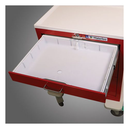 White Divider Box with Clear Lid