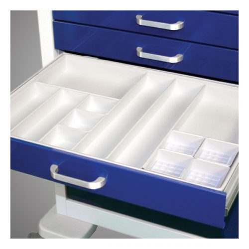 White Plastic Tray with Configured Bins