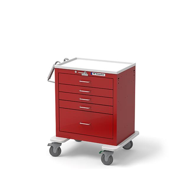 Waterloo Healthcare 5 Drawer Shortemergency Cart Usrlu