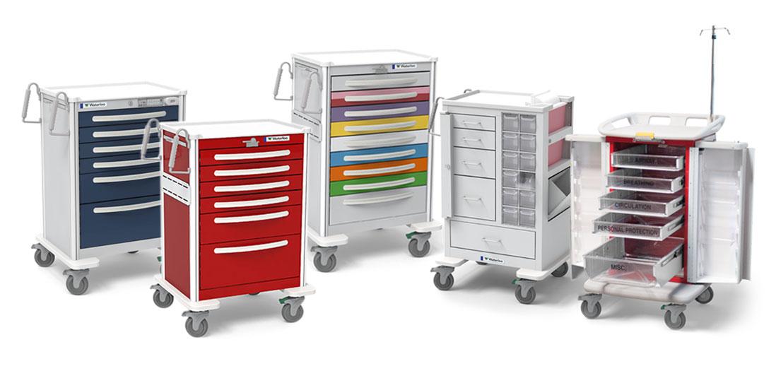 Group of Medical Carts